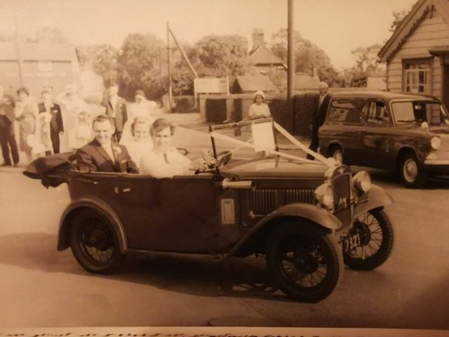 "David Broughton's 1932 tourer.  Bought by David's father to ""keep him off the streets""!"