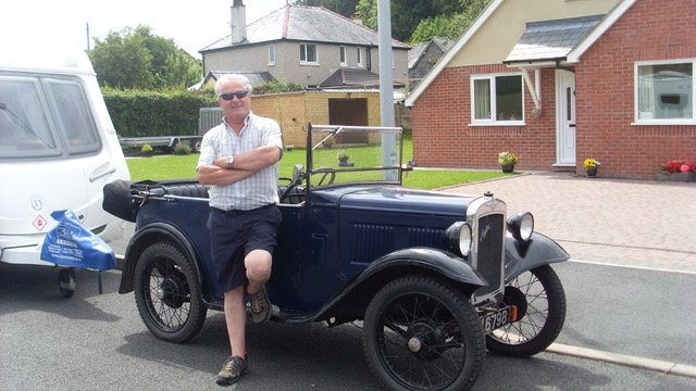 Del Rhys has pictures of two cars in his family stable. A 1932 AF four seat tourer and 1934 Box. This photo was taken during the 2013 Bryngarw Rally