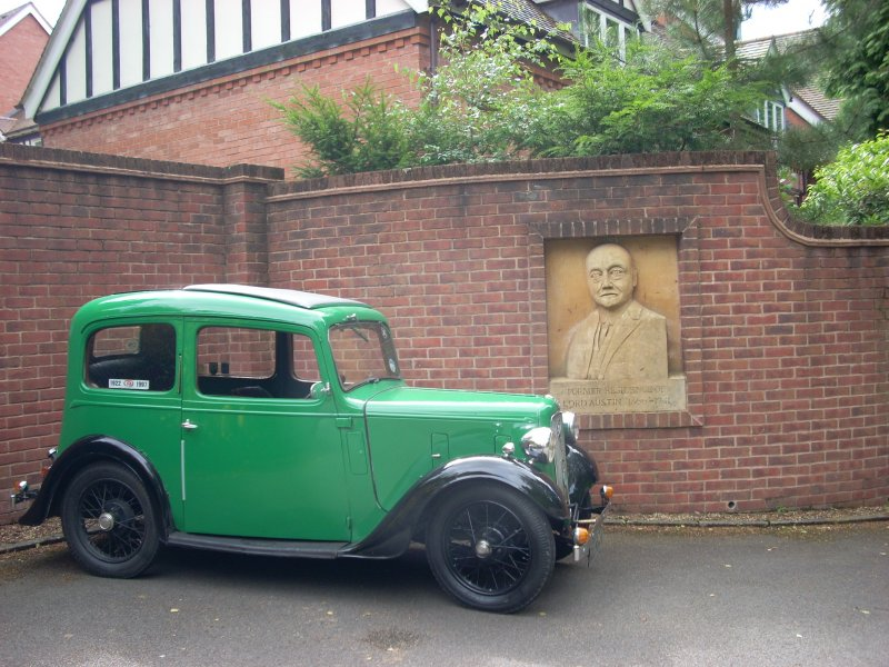 Parked outside Lickey Grange